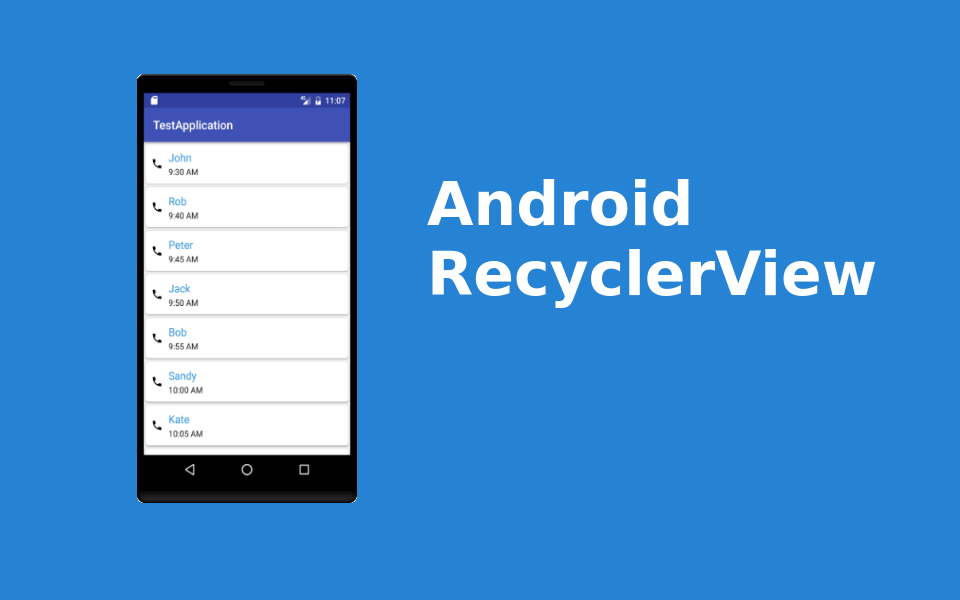Android RecyclerView with example